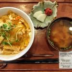 パルタージュ七彩 - 料理写真:たまご丼セット 2015/9/12(土)