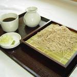 手打蕎麦 万江波良 - せいろそば ¥650-