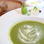 エマーブル - 大葉のスープとパン