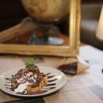 ビターチョコとチョコアイスのフレンチトースト