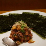 HALE海'S - 北海道産甘エビのケジャンスタイル 韓国風ピリ辛漬け 980円