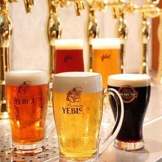 【ビール好きにはたまらない!】樽生ビールと厳選クラフトビール