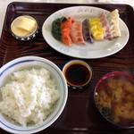 みのわ食堂 - レインボー餃子定食