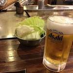 鉄板あさひ - ビールとキャベツ