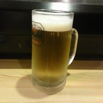 酒処・食処いいづか家 - 生ビール500円+税