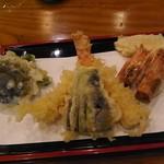 蕎上人 - 天ざるの、天ぷら