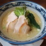 鶏骨スープ 青桐 - にごり塩ラーメン+鶏チャーシュー