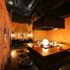 恵比寿でですけ - 内観写真:あたたかな照明に心落ち着く【12~16名様】完全個室『火の間』