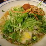 茶カフェ 上辻園 - 京野菜のタンメン醤油味