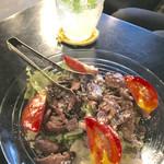 ソファリ - きのこのマリネとトマトのサラダ