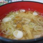 コミュニティ・キッチンふぃーる - なめ茸と赤い海藻のお味噌汁(2015年9月)