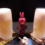 うさぎ - ギンギンに冷えた生ビール