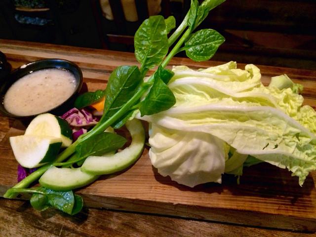 funky 原田 - お通し、立川産の野菜