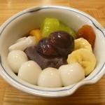 みはし - 料理写真:フルーツあんみつ (白玉トッピング)