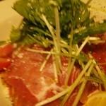 バルde Ricotta - 生ハムと水菜の冷製カッペリーニ(トマトソース)大盛り 1,393円