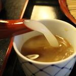 吉清水茶屋 - 蕎麦湯