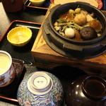 吉清水茶屋 - 石釜飯わっぱ汁御膳(山菜石釜飯)