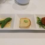 チャートイン カフェ - 3種の前菜