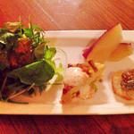 41862538 - ランチの前菜とサラダ