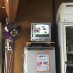 在本商店 - テレビでは犬島の歴史をやってもらえます。