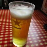 レストランあづま - ランチビール