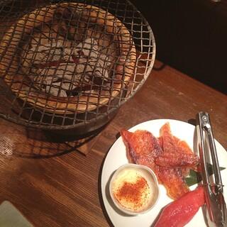 てしごとや - 七輪焼き 鮭とば 明太子