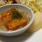 桂林 - 棒々鶏、揚げ豆腐あんかけ、サラダ、梨ナスよ(゜∇^d)!!