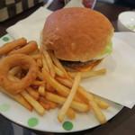 アンクル・サム - ベーコンチーズエッグバーガーW+オニポテ