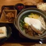 41867067 - ランチ:土鍋炊き鶏飯定食(¥750)