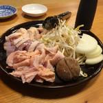 鳥清 - 大和肉鶏の石焼セット(2人前)
