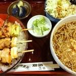 瀧乃家 - 焼鳥丼セット(かけ)
