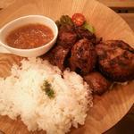 Lavi Ande Cafe - ハンバーグ&牛ハラミステーキセット