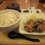 4187331 - 鶏の唐揚げ+お茶漬け定食