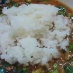 特級鶏蕎麦 龍介 - おい飯投入