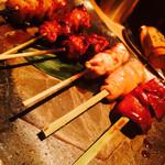 TAKASEGAWA - 軍鶏6本盛り合わせ 2000円
