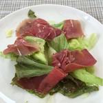 ターボラ - 前菜の生ハムのサラダ(1/4位食べてますm(_ _)m)
