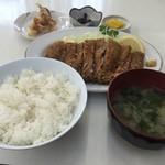 しぶき亭 - まぐろカツ定食