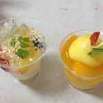 銀ぽあーる杉本 - 不思議な美味しさのワインゼリーとマンゴーゼリー