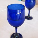 アルベロ - 真っ青なグラスにお水