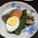 東の里 百円食堂 - 煮しめ
