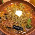 ナポリワークス - 彩り野菜のトマトスープパスタ
