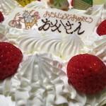 メイプル洋菓子店 - 最近のバースデーケーキはほとんどメルヘン製