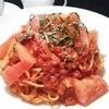 フレッシュトマトとモッツァレラのカプレーゼパスタ
