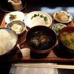 41887867 - 宇和島産鯛飯定食(1,100円)