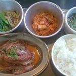 お好み焼肉道とん堀 - 料理写真:牛ロースランチ