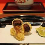 銀座 天一 - 「松茸」。季節限定でのご提供です。