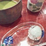 椿堂茶舗 茶房 竹聲 - お抹茶と「金魚玉」
