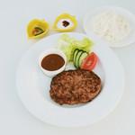キーズ カフェ トムソーヤ - 信玄味わいビーフの絶品ハンバーグステーキ