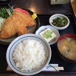 たかみ - アジフライ定食201507