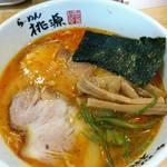 らーめん桃源 - うま辛しお(極細麺)